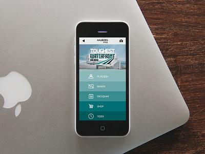 Toughest App interface minimal flat application gradient sport mobile ux ui fab colors app
