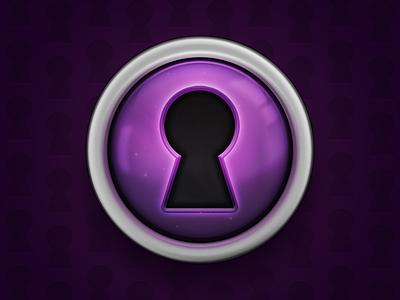 Passlocker Mac App Refined Icon password mac app icon passlocker purple lock safe