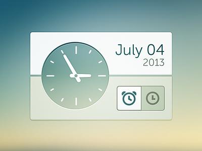 Clock clock widget ui