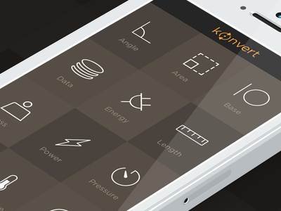 Konvert - iOS7 unit converter konvert ios7 iphone convert units converter area angle app appstore