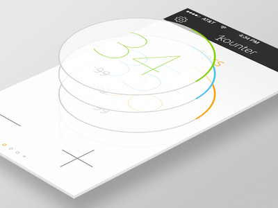 Kounter - Simple counter app for iOS counter kounter count 1 app ios ios7 flat tally numbers