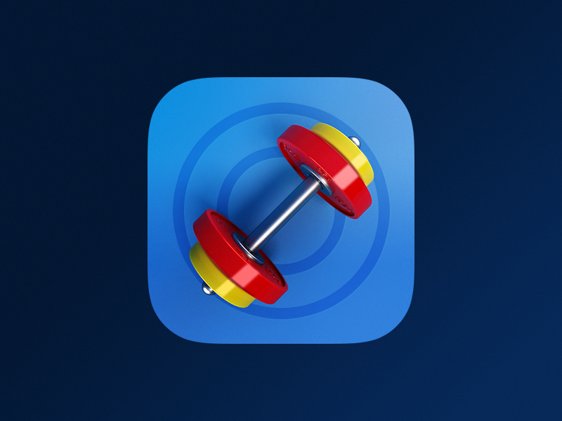 Workout App Icon workout exercise barbell ios iphone app icon
