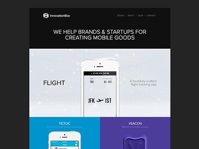 Our new portfolio site designer ibx site web portfolio innovationbox