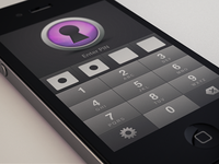 Password case iPhone app pin screen