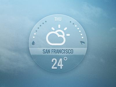 Weather widget by InnovationBox on Dribbble