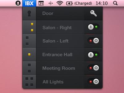Light & Door Controls Mac App light control mac app toggle button key lock door