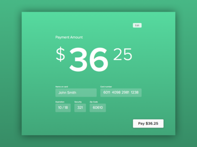 Daily UI: Design 002 — Credit Card Checkout
