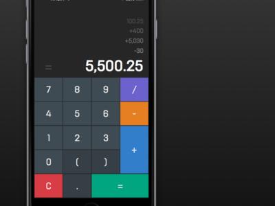 Daily UI: Design 004 — Calculator