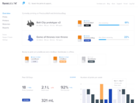 New Formlabs Dashboard — Overview Page