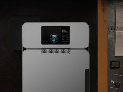 UI Concept for the Formlabs Fuse 1 3D Printer