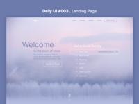 DailyUI #003 Landing Page