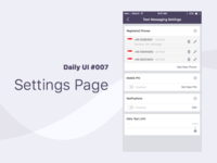 Daily UI #007 Settings Page