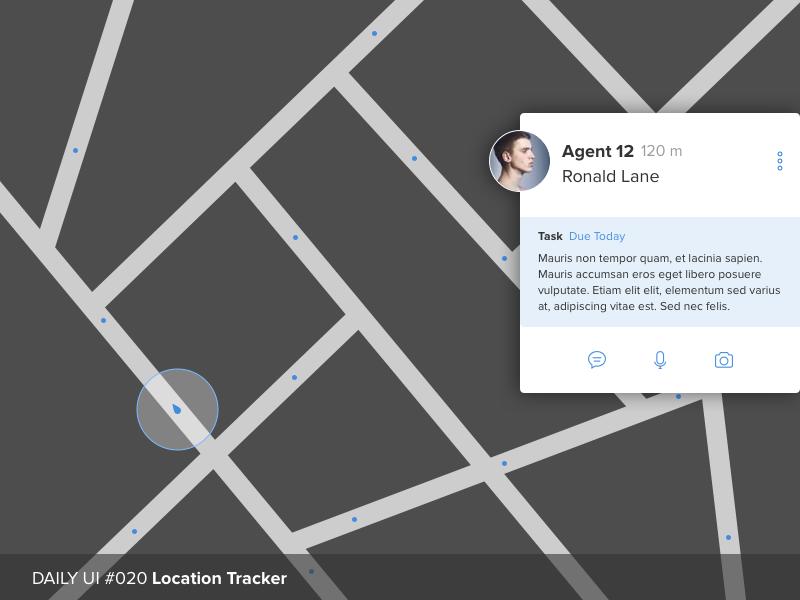 Daily UI #020 Location Tracker tracker location dailyui ui daily