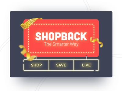 ShopBack Billboard billboard shopback neon lights