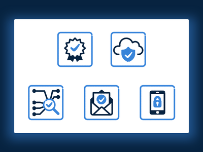 security tech icons icons guarenteed notification network safety phone tech cloud security