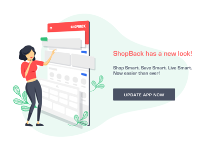ShopBack App has a new look girl illustration update revamp app shopback