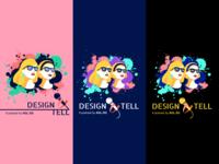 Podcast cover artwork - Design & Tell agl.sg agl singapore designtell cover podcast girl branding vector logo illustration