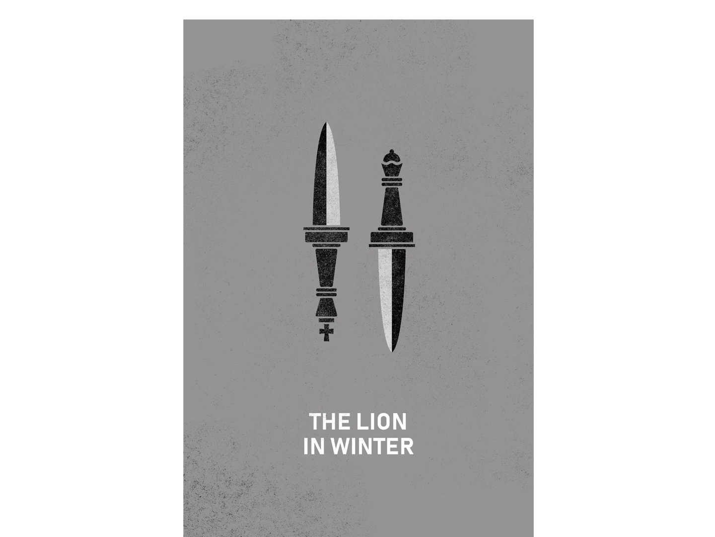 The Lion in Winter Poster minimalist minimal film movie movie poster dagger daggers lion in winter