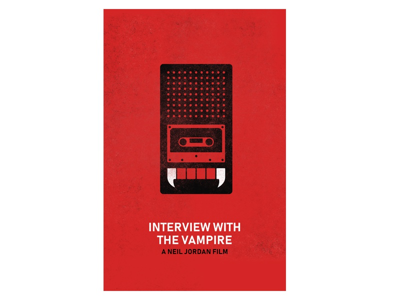Interview with the Vampire Poster fangs cassette vampire interview with the vampire movie poster film movie poster minimalist minimal