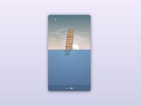 Leaning tower sketch card graphic design tower pisa rebound app ui design ui
