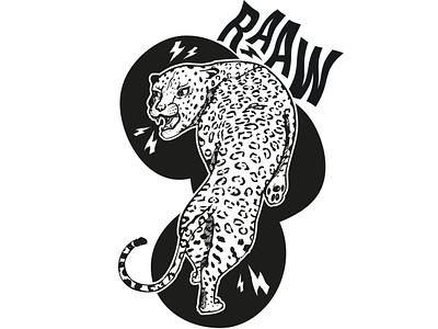 Panthera design drawing illustration wild angry rawww black monochrome panthère noir serigraphie screen printing