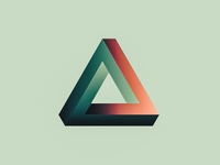 Penrose Triangle illustration impossible triangle penrose triangle