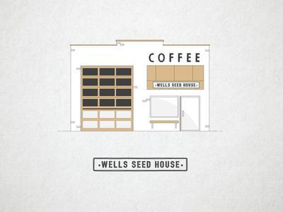 Wells Seed House identity branding coffee roasting coffee design logo design logo brand identity branding