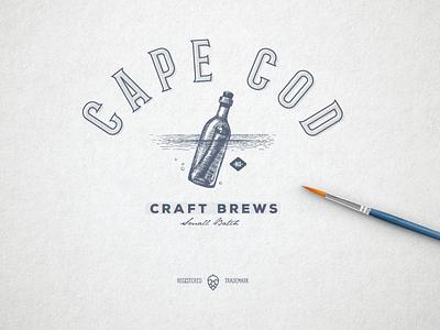 Cape Cod - Craft Brews cape cod beer logo brand branding logo design logo craft beer