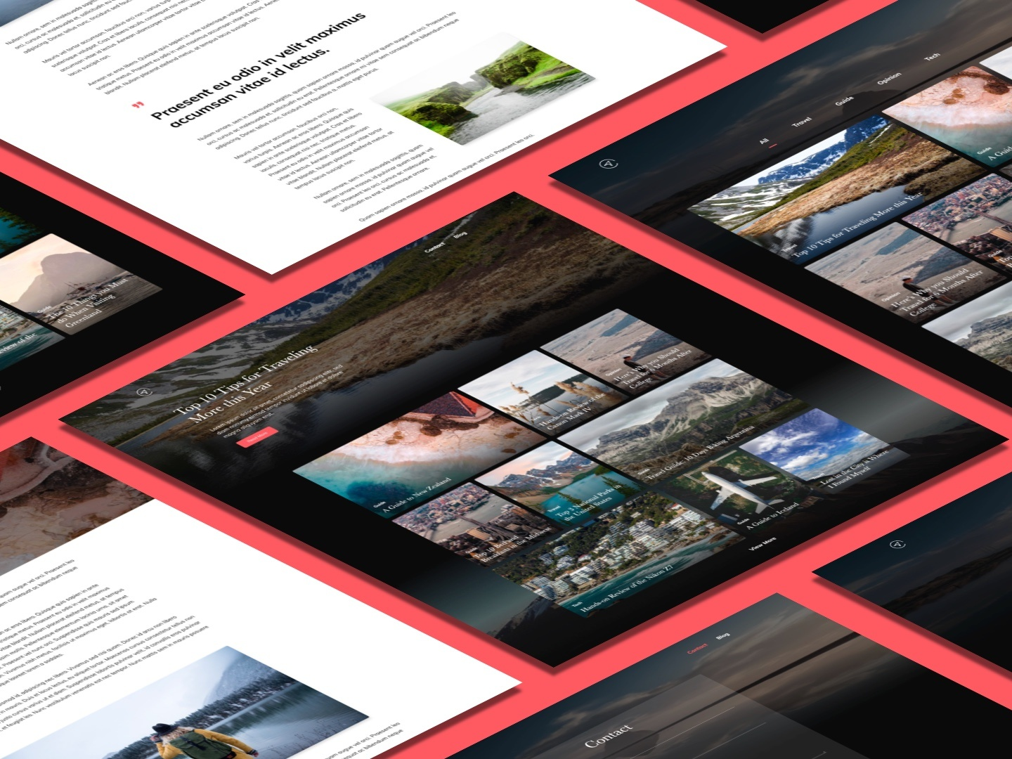 Gatsby and React Course | Travel Blog by Hunter Becton on Dribbble