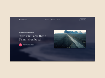 Design and Dev Course | Landing Page with Feature Video