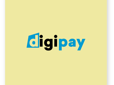 Digipay logo concept website animation flat web ux typography app ui minimal logo design