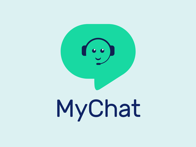 My Chat Logo minimal flat animation design logo