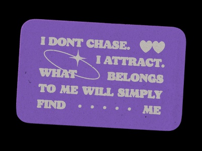 I attract lettering affirmation card poster type typography text quote retro paper texture graphic design