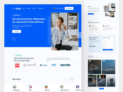 Dieseo - Landing Page landingpage landing landing page ui hero section website banner marketing website marketing design marketing site seo agency marketing marketing agency landing design website design landing page design design landing page ui