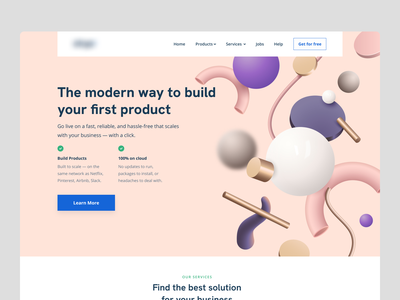 Hero Style Exploration - Product Website 3d haeder 3d elements 3d web exploration productdesign product page website design webdesign product design style exploration startup product header exploration header design website concept hero section landing page ui