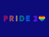 PRIDE 2020 experimental type font rainbow flat 2d type typography colorful illustration gay pride lgbtqia lgbtq lgbt pride 2020 pride month pride