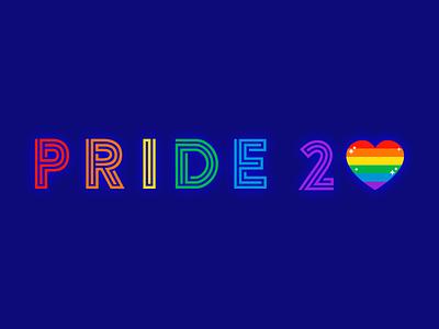 PRIDE 2020 experimental type font rainbow flat 2d type typography colorful illustration gay pride lgbtqia lgbtq lgbt pride 2020 pride month pride