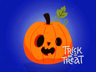 Jack O. Latern jack o lantern candy trick or treat autumn fall lettering halloween pumpkin hand drawn colorful vector illustration