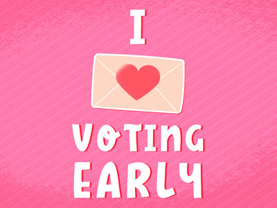 The Art of Voting Early color palette series political colorful vector hand drawn illustration vote by mail election 2020 democracy vote