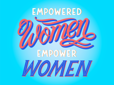 Thursday Thoughts hand drawn letters empower series design words palette type colorful illustration lettering woman feminism