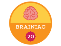 Brainiac Badge
