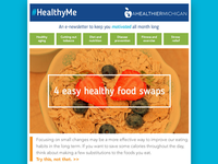 #HealthyMe Newsletter Design