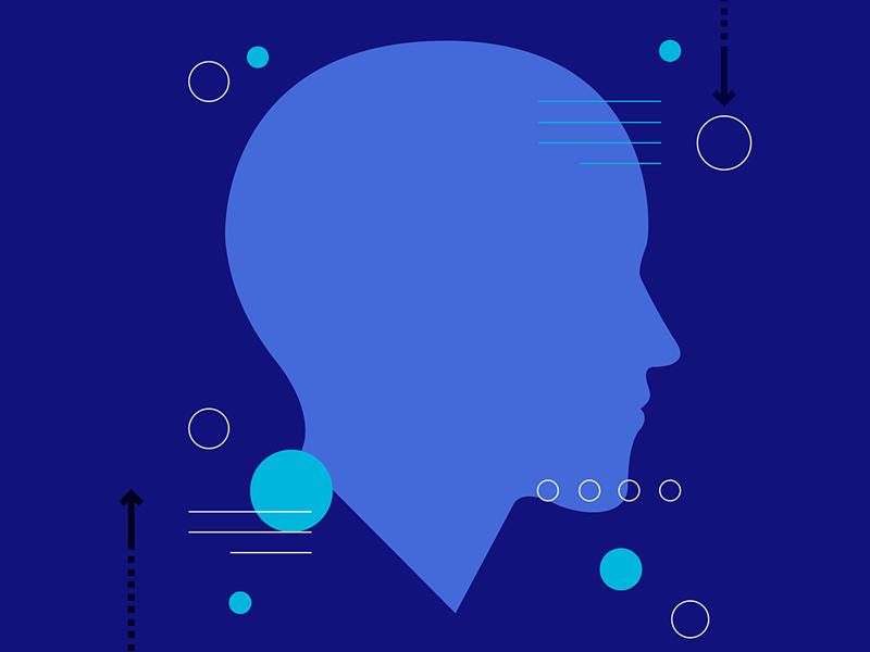 Rhythm Study: Modern Thinker 2d flat iconography rhythm illustration styles study experiment crop