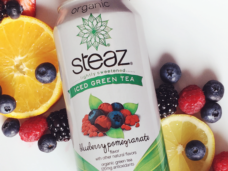 Steaz Iced Tea Flavor Profile + Photo Styling client tea content creation photo styling playful product organic fruit concept photography social media steaz