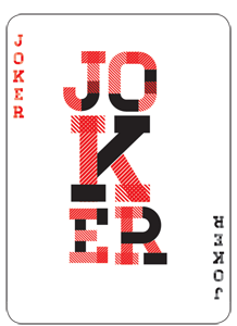 Joker red and black