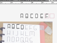 Technologic Typeface (process screenshot)