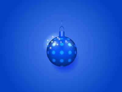 Blue christmas ball icon illustration christmas design typography vector new year