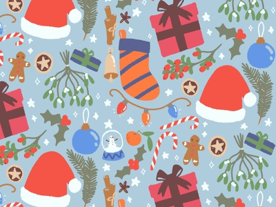 Christmas Pattern digital art digital illustration digital repeat pattern pattern xmas christmas design illustration childrens illustration childrens book illustration childrens book