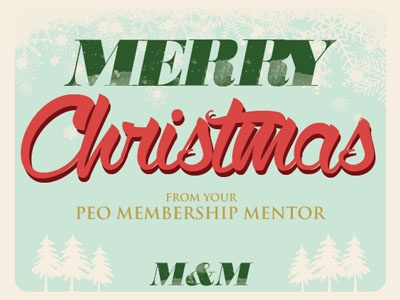 Merry Christmas from PEO notecard christmas carddesign