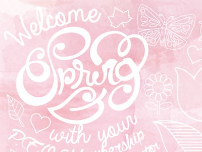 PEO Spring Postcard postcarddesign spring